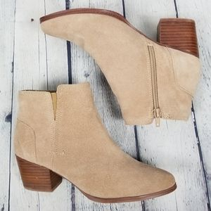 ALDO | Lillianne suede stacked heel boot booties